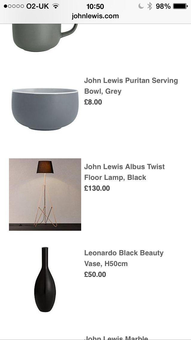 John Lewis free standing lamp