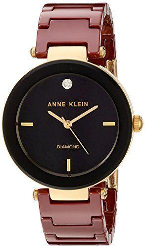 274dd03817a Anne Klein Women s Quartz Metal and Ceramic Dress Watch. What a cute look!   watch  timepiece  red  fancy