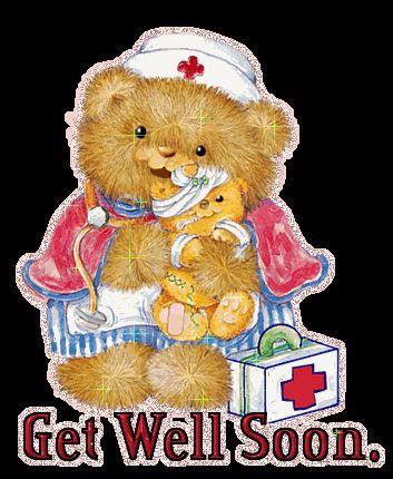 Get Well Soon Glitter Graphics | Glitter Text » Get Well Soon » Get Well~Bear