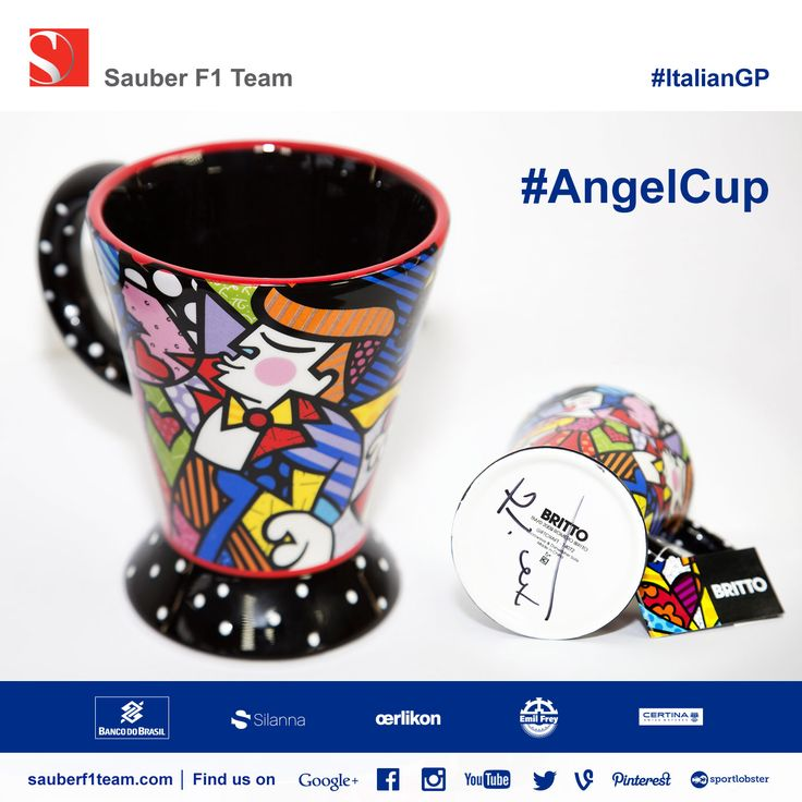 Felipe Nasr has a ritual of drinking an espresso on the starting grid before each race. Get your #AngelCup signed by Felipe Nasr! Bid here to support Gabrielle's Angel Foundation for Cancer Research ► http://chrty.bz/AngelCup1 - #F1 #SauberF1Team #ItalianGP #charity #AngelCup