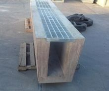 Galvanised Heavy Trafficable Trench Grate & Concrete Channel.JPG