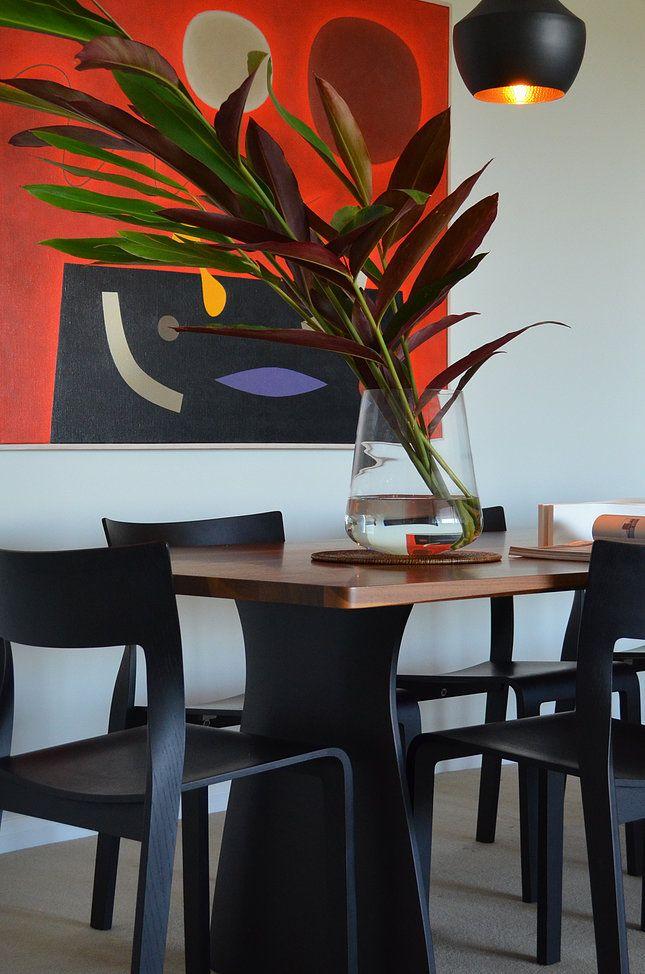 Circular Quay Harbour Apartment - Swan Studio Interior Design | apartment dining room john coburn artwork matt dixon pendant