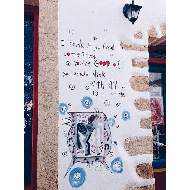 Walls belong to art! #Patmos  Photo by: @lemonxiv