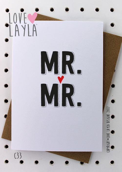 Love is Love Engagement Wedding Congratulations Greeting Card LGBT