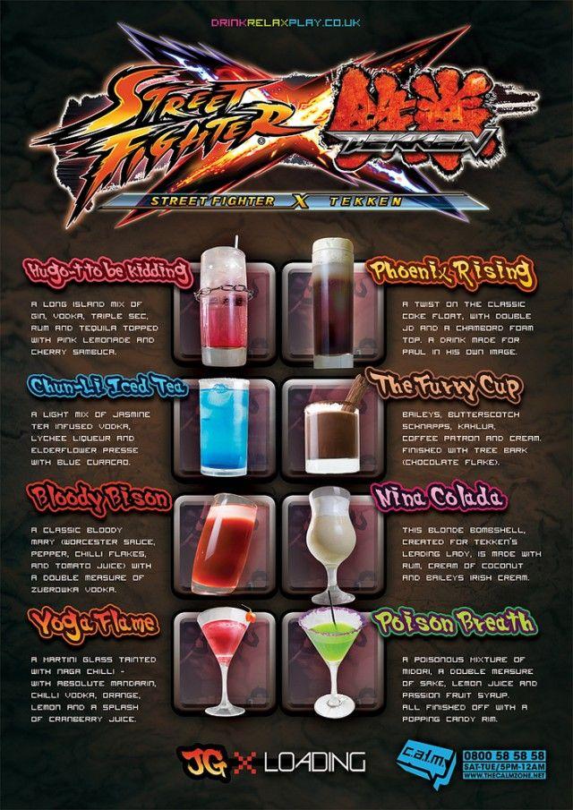 Street Fighter x Tekken Bar Menu