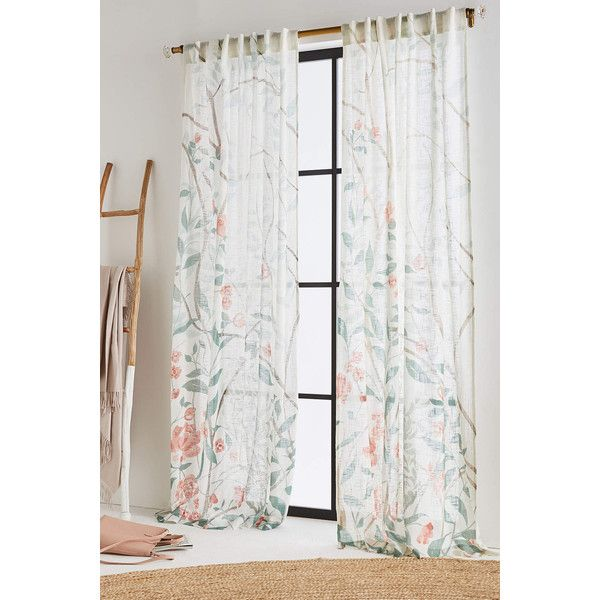 Anthropologie Tasseled Julie Curtain ($108) Via Polyvore Featuring Home,  Home Decor, Window