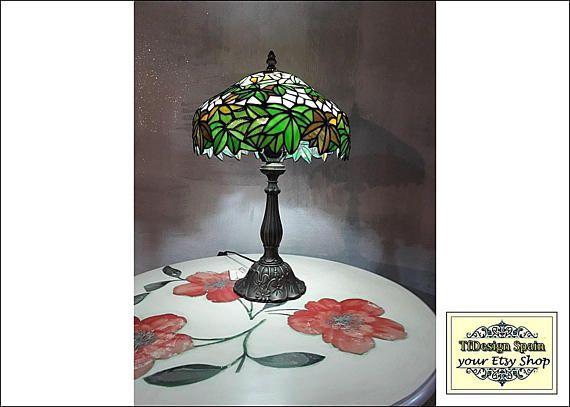 Lampe Tiffany Vert Lampe Tiffany Lampe Tiffany Etsy Lampe Tiffany Lamps Lamp Decor Etsy
