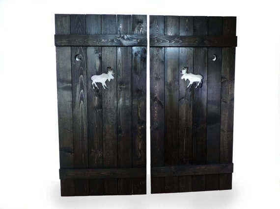 Saloon doors, cafe doors, wooden gate, western home decor, rustic doors, rustic gates, moose decor, wooden art, interior wood doors