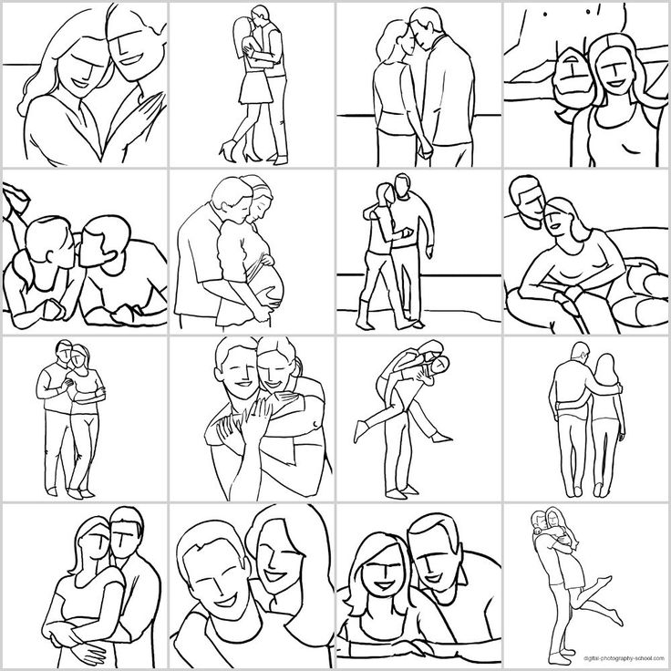 16 idées de poses pour un shooting photo couple
