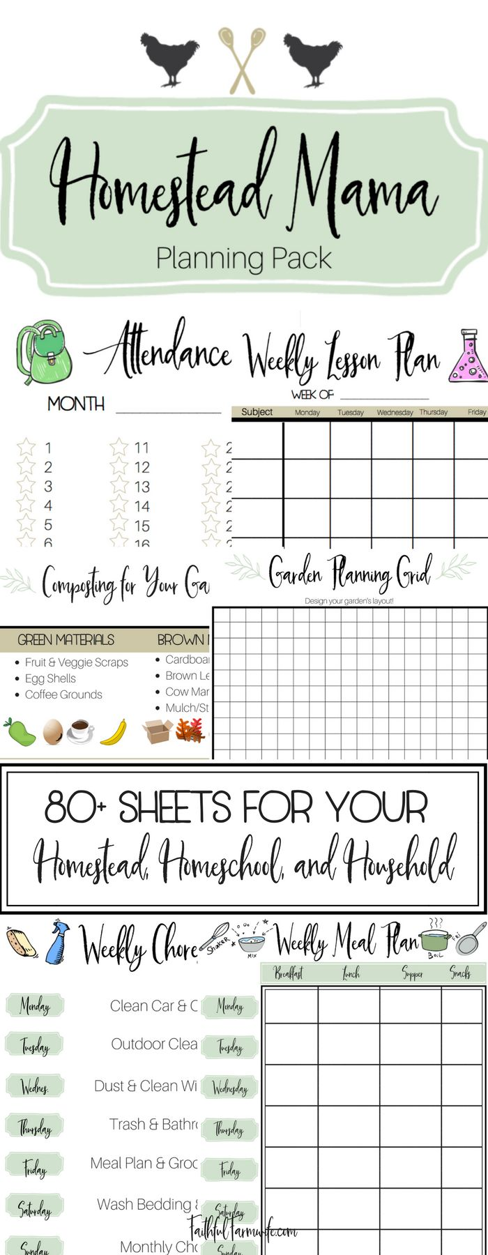 Being a homesteading mama can be tough. Make your many a little easier with this complete planning pack for your home, farm, & homeschool!