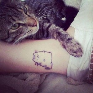 Cute_Chubby-Cat-Tattoo-On-Ankle                                @Rebecca Dezuanni Dewitt