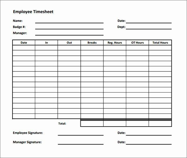 Weekly Timesheet Template 9 Free Download In Pdf Timesheets