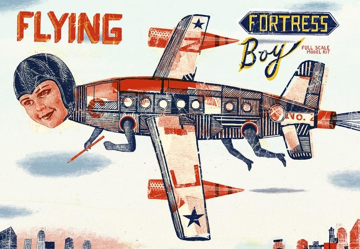 Christian Northeast - Flying Fortress Boy: Christians, Artists, 일러스트 Illustrations, Llamas Christian, Graphics Design, Christian Northeast, Fortress Boys, Illustrations 2013, Awesome Illustrations