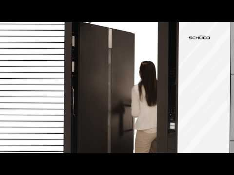 Drzwi wejściowe z systemem kontroli Schüco DCS