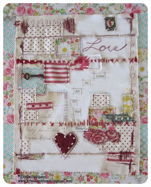 lovely... this would be great for a journal or album cover... I've gotta get my own sewing machine!