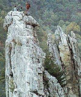 Seneca Rocks, WV - Greatest class I ever took in my life. Rock Climbing was a life thrill. No regrets.