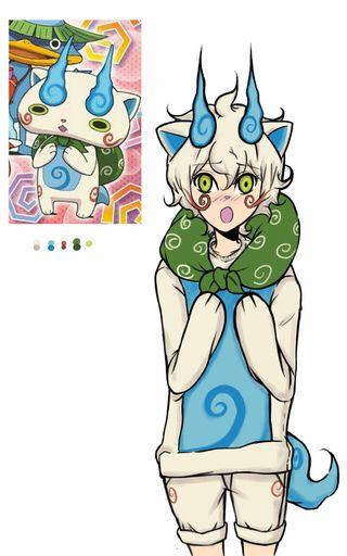Komasan | Anime guys, Youkai watch, Concept art characters