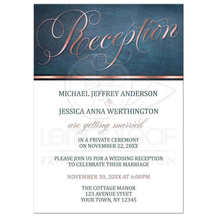 Best 25 Reception only invitations ideas on Pinterest Reception