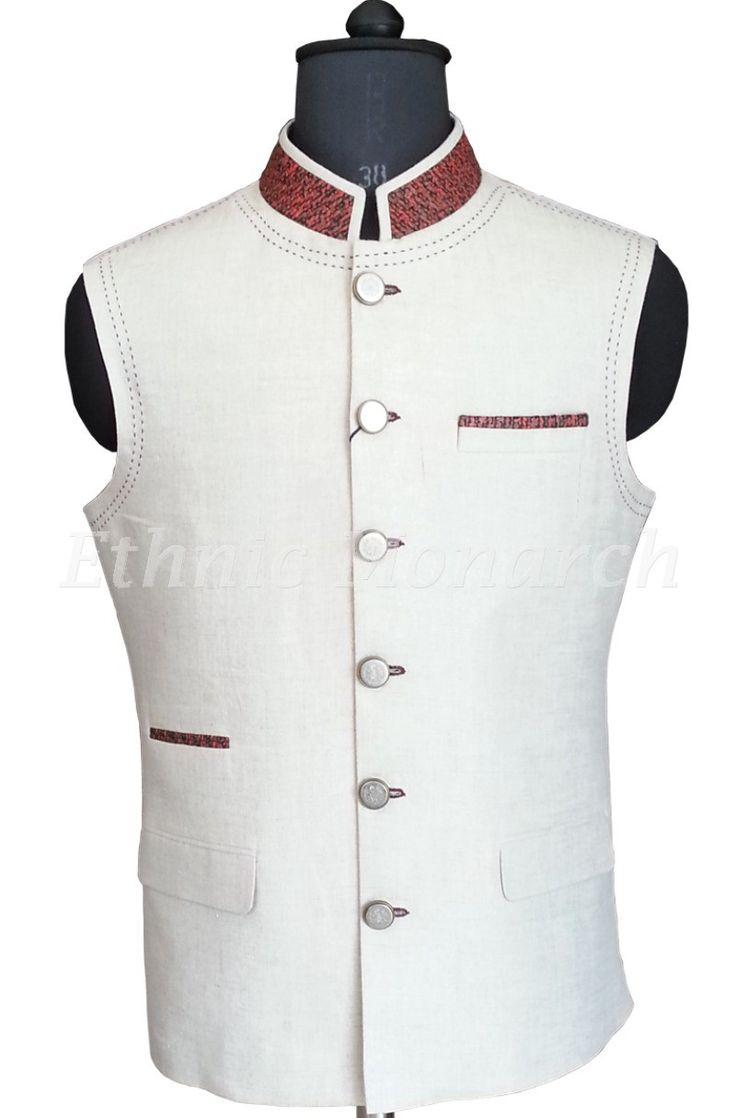 Charming Off White Nehru Jacket