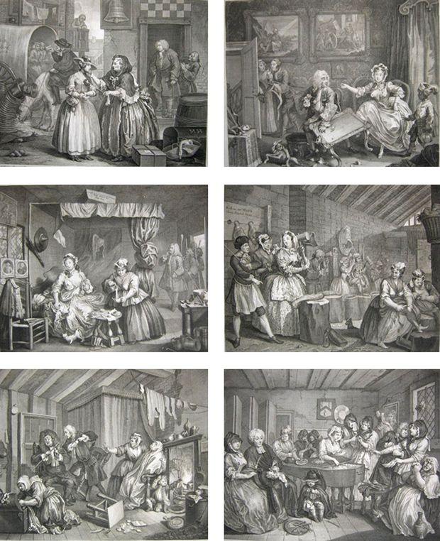 A Harlot's Progress (La Carrière d'une prostituée), série de six gravures de William Hogarth réalisée en 1731 et 1732.