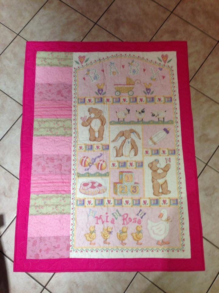 Baby girl cot quilt