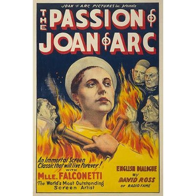 "Buyenlarge 'The Passion of Joan of Arc' by Eloquent Press Vintage Advertisement Size: 66"" H x 44"" W"