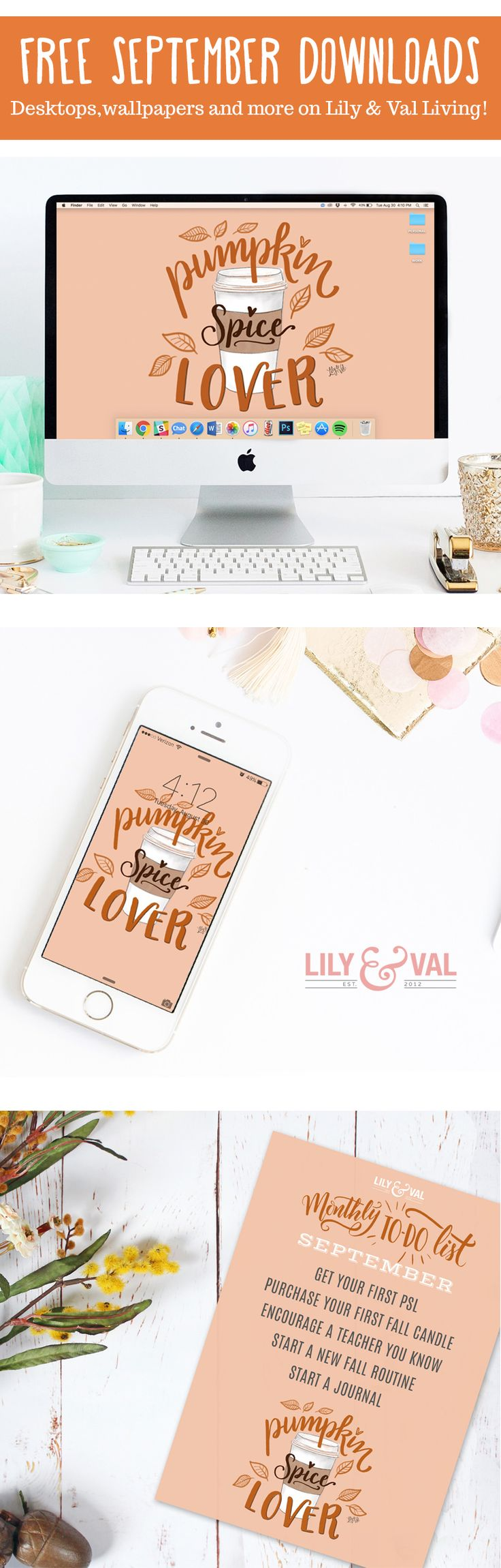 Free Downloads On Lily & Val Living! Fall Desktops, Wallpapers And Todo