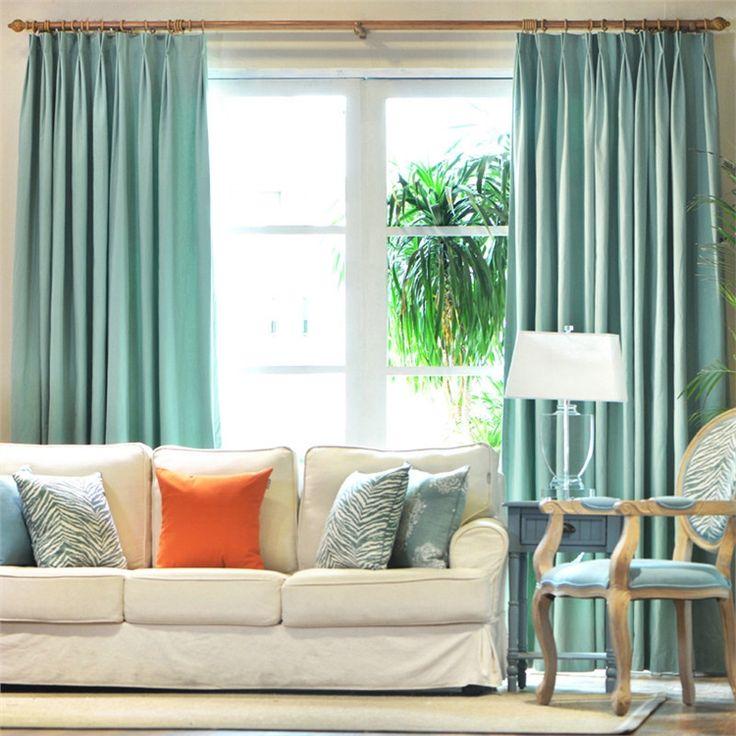 遮光カーテン オーダーカーテン 薄緑 無地柄 3級遮光カーテン(1枚) PL010