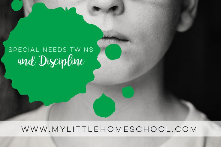 Special needs twins and discipline is tricky but necessary for a happy life. My advice is to stay calm, reward them, be consistent and give a time frame. Visit my blog for more about special needs kids, twins and homeschooling.