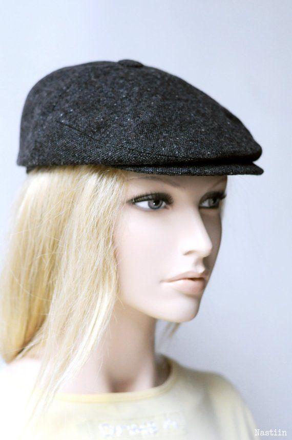 Womens ivy cap charcoal Womens newsboy hat Mens newsboy cap Baker ... 34eca7a4f88a