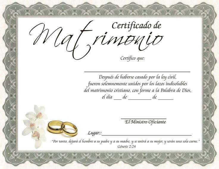 Acta De Matrimonio Catolico : Bodas kermes