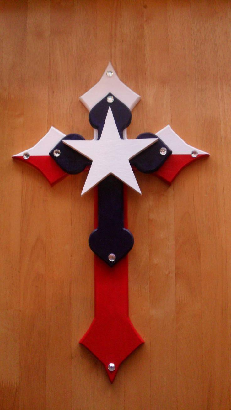 Besides cross clip art wall decor decorative wood cross decorative - Handpainted Wooden Texas Cross By Emcraftydesigns On Etsy