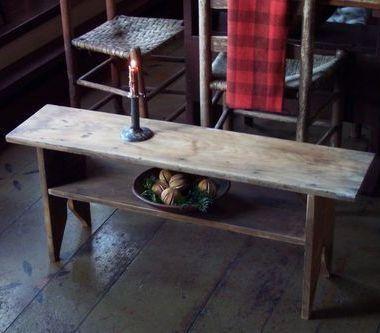 Primitive Old Vintage Wood Bench