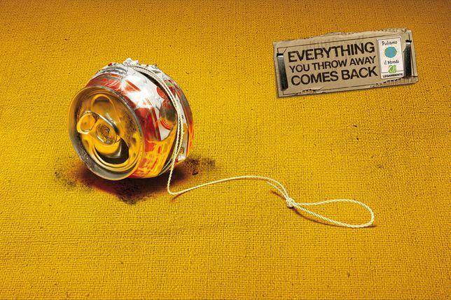 Recycle by Forchets. #Yo-yo #recycling #greatad #cop21