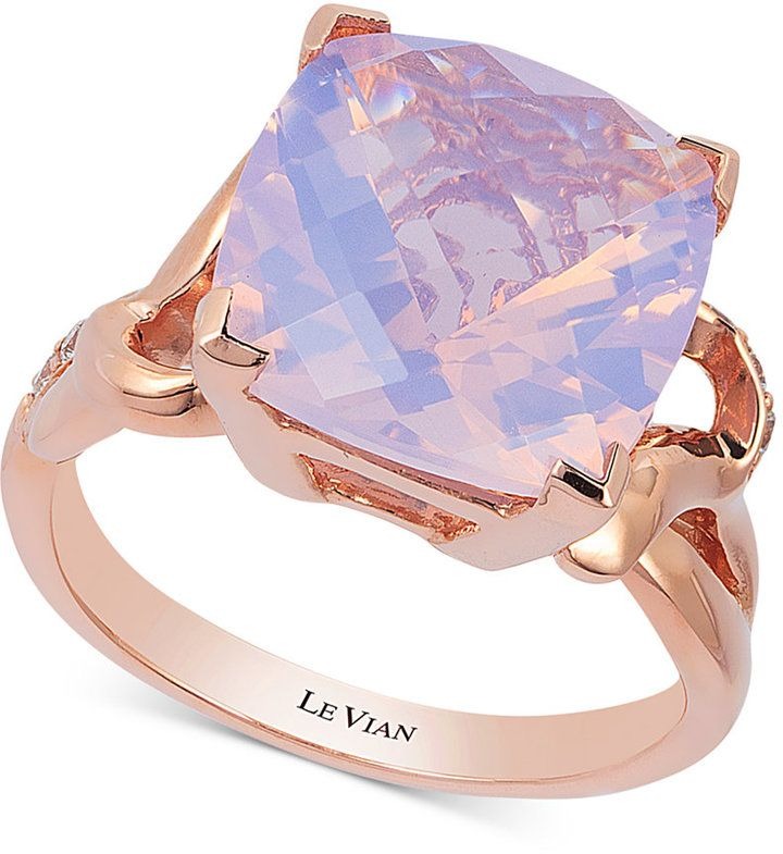 Le Vian Lavender Quartz (5-9/10 ct. t.w.) and Diamond (1/10 ct. t.w.) Ring in 14k Rose Gold