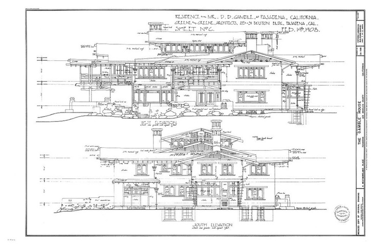 Gamble House Plans 28 Images History Of Arch Ii