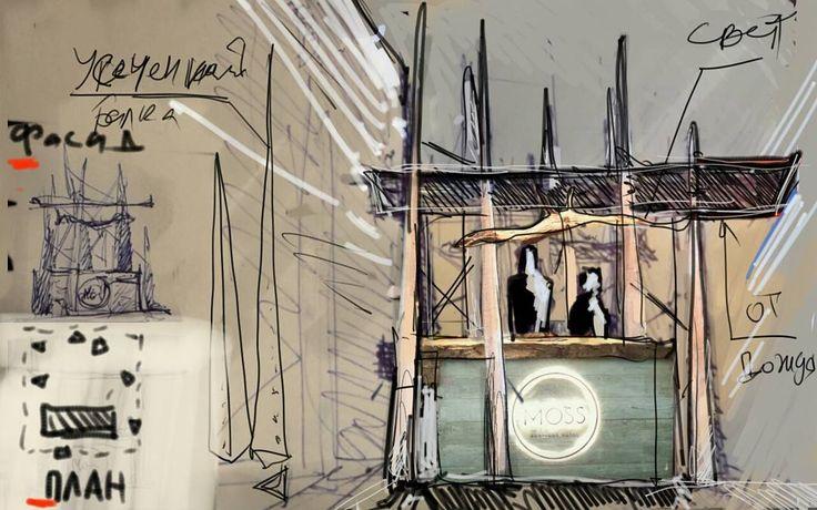 Экспозиция для #moss #mossapartments  от #мастерская_труд #masterskaya_trud  во дворе музея архитектуры Щусева #shusevmuseumofarchitecture