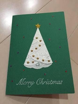 「クリスマスカード 手作り」の画像検索結果