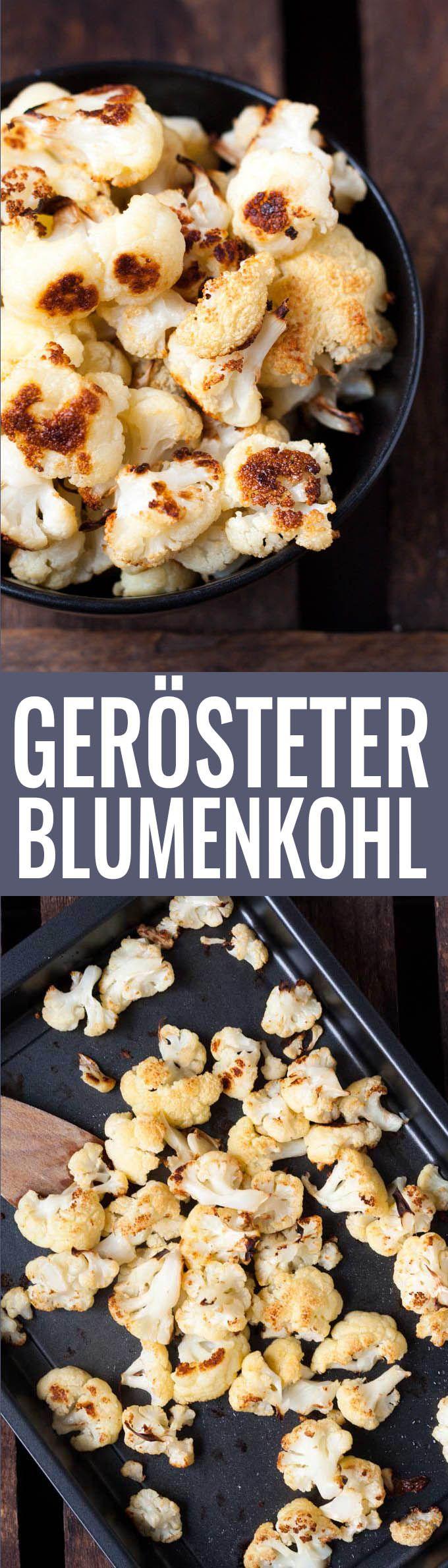 Perfekt gerösteter Blumenkohl: Der beste Blumenkohl aller Zeiten, im Ofen schnell und einfach mit Olivenöl geröstet. Der Geschmack wird dich umhauen!