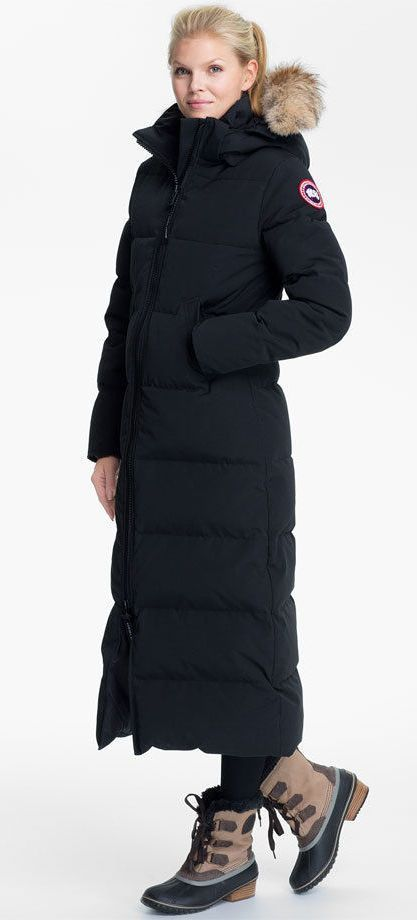 canada goose long down jacket