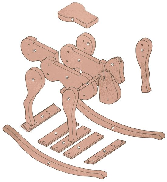 Free Rocking Horse Woodworking Plans http://freerockinghorseplans.com/plans_1.htm
