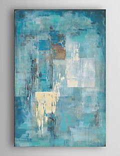 Hand Painted Oil Painting Abstract Indigo Wall with Stretched Frame 7 Wall Arts® – CAD $ 119.53