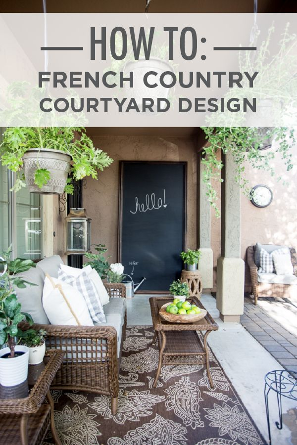 If you dream of an outdoor space dripping with fresh vines and sophisticated decor then this french country courtyard design is the perfect inspiration for your renovation. The Home Depot and @justdestinymag show you how easy it can be.