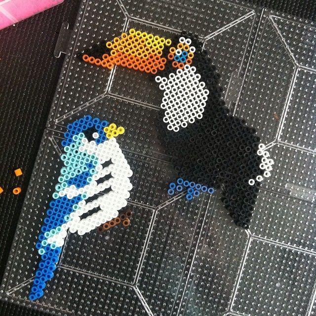 Birds perler beads by sejnow