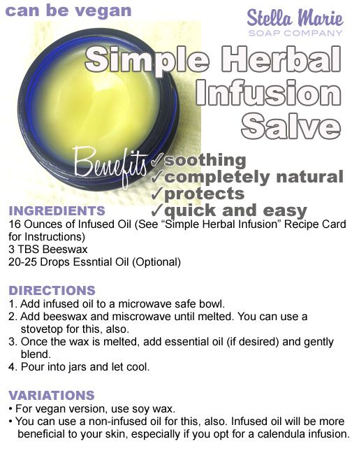 Simple Herbal Infusion Salve