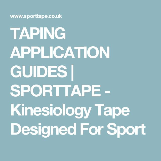 54 best kinesiology taping images on pinterest kinesiology taping here are our application guides for using sporttape kinesiology tape fandeluxe Choice Image