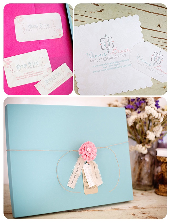 Photography Packaging - Winnie Bruce Photography
