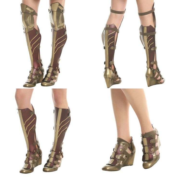 These Wonder Woman 3-Piece Wedge Boots Are Perfect For Butt-Kicking