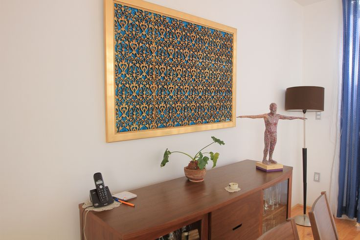 My sculpture and relief in a private house.