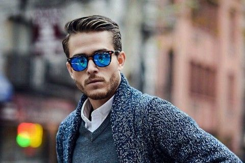 Men's street style - sunglasses, cardigan and haircut. See the cities with the most handsome guys >>> http://bit.ly/1KmeMYs